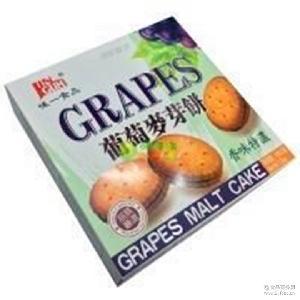 味一葡萄麦芽饼干208g*16盒/箱 进口台湾食品 休闲零食 批发代发