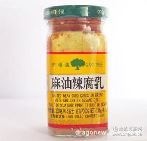 巨树牌130g麻油白腐乳/麻油辣腐乳 调味酱料130g*24