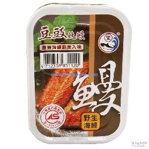 新宜兴 台湾进口食品 隆育豆豉烧鳗 野生鳗鱼 罐头100g*24