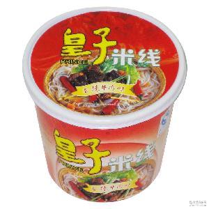 皇子90g杯装 香辣牛肉味 深圳专业面条 方便即食过桥米线 供应商