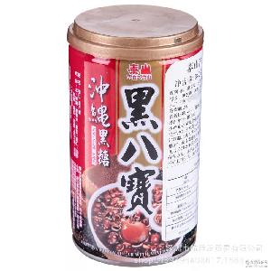 正品行货原装进口 台湾泰山冲绳黑糖黑八宝粥 24罐*340g克1箱