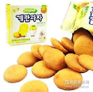 批发 海太鸡蛋饼干 韩国进口食品 45g/盒 儿童饼干
