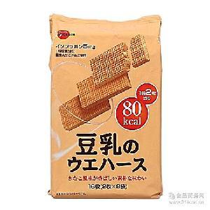 批发112.8g 日本进口Bourbon布尔本豆乳威化饼干 16枚