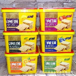 780克盒装 香港休闲零食苏打饼*向日葵饼干多种口味夹心饼干
