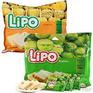 越南进口LIPO椰子味/榴莲味面包干300g 越南特产鸡蛋饼干