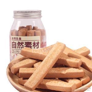180g批发 台湾进口 自然素材特浓黑糖牛奶棒饼干休闲食品早餐点心