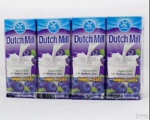 批发泰国Dutch 达美果味酸奶(蓝莓)180ml*48盒 箱进口食品 Mill
