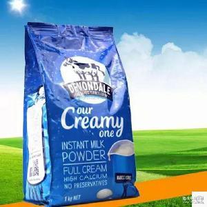成人学生奶粉 批发澳洲进口德运Devondale高钙全脂牛奶粉1KG