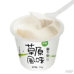 千初草原风味酸奶130g新版 低温奶全脂牛奶厂家直销支持一件代发