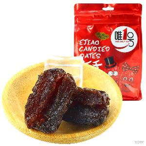 女孩零食品批发 无籽红枣蜜饯 山东特产阿胶贡枣228g独立小包装