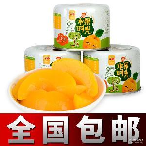 黄桃罐头水果罐头食品水果时光糖水黄桃批发夏季零食饮料休闲食品