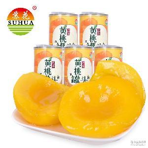 水果罐头批发 糖水黄桃水果罐头425g*5罐一件代发 苏花厂家直销