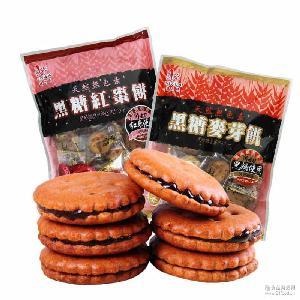 viviga倍之味黑糖麦芽饼干夹心饼干 菲律宾进口零食 200g/包批发