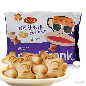 马来西亚滨司大嘴猴进口饼干 夹心饼干儿童进口食品小零食 巧克力