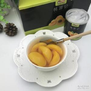 正品桃源记黄桃罐头爽脆可口新鲜黄桃水果罐头配勺子6罐起礼盒装