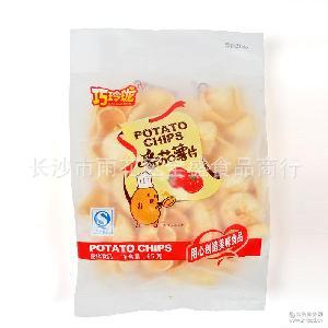 65g巧玲珑香脆薯片1*50 膨化休闲小吃零食