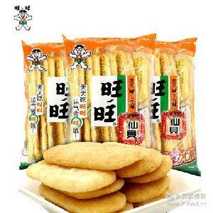 米饼膨化九州娱乐官网休闲饼干儿童小吃零食大礼包 旺仔旺旺仙贝52g