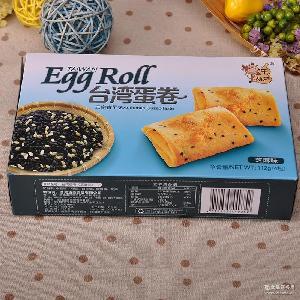休闲鸡蛋卷饼干零食品批发 牛葫芦台湾蛋卷112g*24盒/箱 台湾进口
