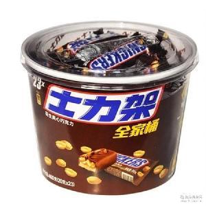 热销德芙士力架全家桶460g/桶 休闲花生夹心巧克力喜糖果零食品