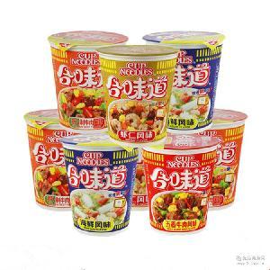 休闲食品Nissin日清合味道杯面12杯/件 方便面干拌面即食泡面零食