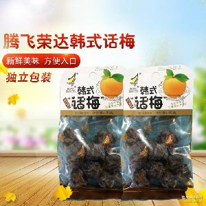 腾飞荣达韩式话梅 蜜饯酸甜孕妇好吃开胃零食80g*40袋/箱批发供应