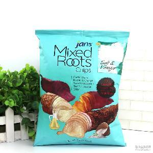 膨化食品 *盐醋味混合薯片 80g*16包/箱 印度尼西亚进口零食