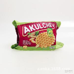 220克 燕一花生味酥脆华夫饼 0339 俄罗斯进口华夫饼 零食饼干