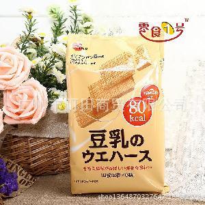 原装进口食品日本BEB豆乳威化饼干107g/16枚入5587有证