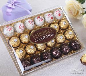 意大利进口*费列罗*巧克力礼盒金莎雪莎黑莎三色杂莎T24粒原装