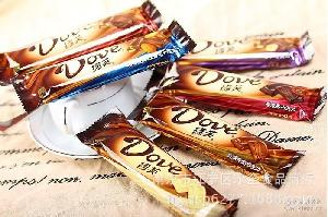 批发德芙43克丝滑牛奶巧克力排块-单条装 零食 喜糖* 整盒12条