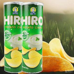 马来西亚进口膨化食品 零食批发 一皇hiro香脆薯片酸奶油味160g