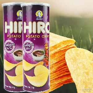 马来西亚进口休闲食品 热销膨化 一皇hiro香脆薯片烧烤味160g
