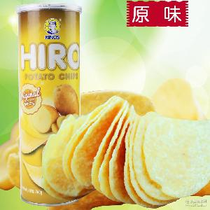 马来西亚进口休闲膨化食品 一皇hiro香脆薯片原味160g