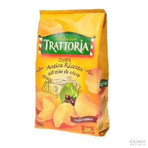 意大利进口食品膨化零食 圣卡罗安蒂卡风味薯片150g*17袋