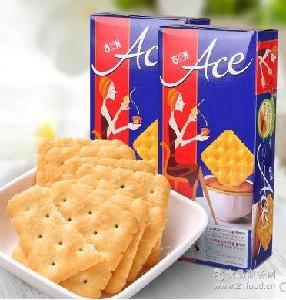 韩国进口海太ACE咸味苏打饼干低糖早餐饼干218g*12代餐休闲零食