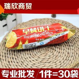 康元薄脆甜小吃饼原味早餐饼干140g/袋*30袋休闲零食