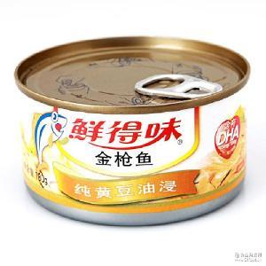 鲜得味 180g 泰国进口鱼肉即食品 水产罐头 纯黄豆油浸金枪鱼