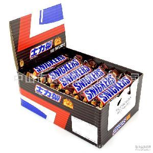 德芙巧克力 喜糖礼物儿童零食批发 士力架夹心巧克力盒装51g*24根