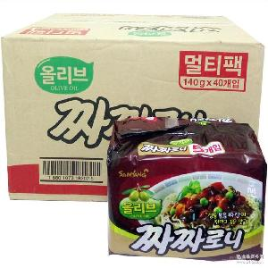 韩国进口三养炸酱面140g*40整箱干拌面方便面