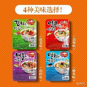 总代【COOKSI】韩国进口米线盒装即食泡面非油炸低脂鳀鱼泡菜味
