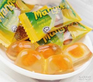 越南进口零食mangoes芒果酱水果软糖 芒果夹心喜糖258g
