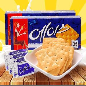 韩国进口饼干食品 海太ACE苏打咸味饼干218g*12盒早餐咖啡好伴侣