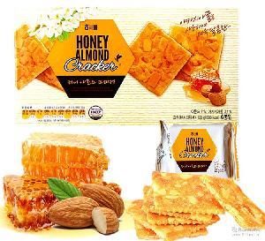 韩国海太进口零食蜂蜜黄油杏仁薄脆IVY香酥饼干休闲小吃133g*14盒