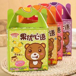 26gX10杯 4种口味 卡其诺果优心语果冻布甸精美盒装