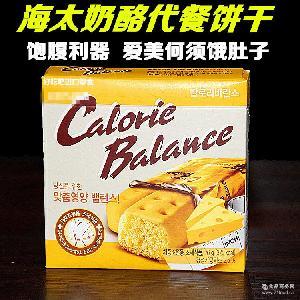 批发韩国进口食品 低脂肪芝士奶酪海太饼干代餐 低卡路里休闲零食