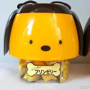 台湾盛香珍鸡蛋味果冻可爱狗造型布丁桶630g
