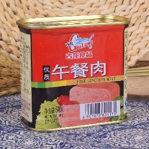 即食火腿肉 古龙优质午餐肉罐头340g 户外速食肉罐头食品