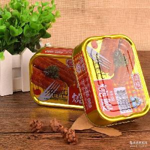 原装进口台湾食品鱼罐头同荣特选烧鳗100g铁罐装