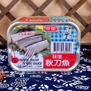 原装台湾进口食品调味品台湾特色水产罐头-同荣味噌秋刀鱼150公克