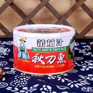 同荣番茄汁秋刀鱼 罐头 台湾原装进口 230公克